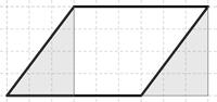 Kuva 3. Oppilaan B ratkaisu: kolmion siirtäminen.