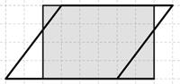 Kuva 5. Oppilaan C ratkaisu: kahden kolmion siirtäminen.