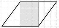 Kuva 6. Oppilaan D ratkaisu: jakaminen suorakulmioon ja kahteen kolmioon.