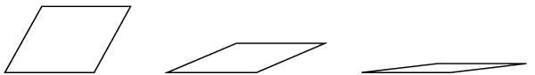 Kuva 8. Oppilas näytti, ettei pinta-ala voi pysyä samana, jos kulma muuttuu.